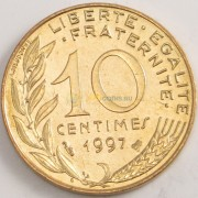 Франция 1997 10 сантимов