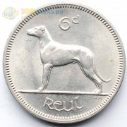 Ирландия 1966 6 пенса Ирландский волкодав