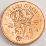 Бельгия 1998 50 сантимов BELGIQUE