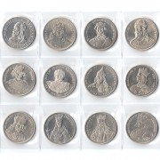 Польша набор 12 монет 1979-1989 Короли