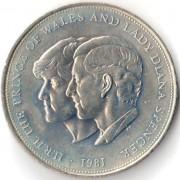 Великобритания 1981 25 пенсов Свадьба принца Чарльза и Дианы