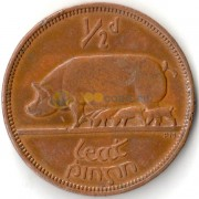 Ирландия 1964 1/2 пенни Свинья и поросята