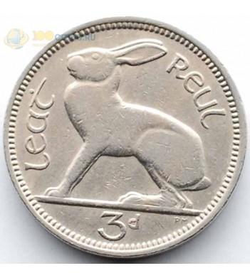 Ирландия 1942-1968 3 пенса Заяц