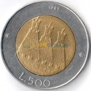 Сан-Марино 1987 500 лир Чеканка монет