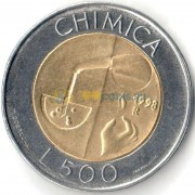 Сан-Марино 1998 500 лир Химия