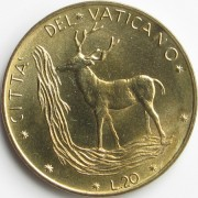 Ватикан 1970-1977 20 лир Олень