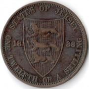 Джерси 1888 1/12 шиллинга