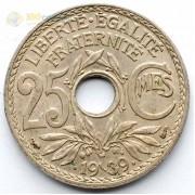 Франция 1939 25 сантимов