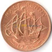 Великобритания 1966 1/2 пенни Золотая лань