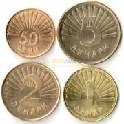 Македония 1993-2016 набор 4 монеты Животные