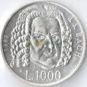 Сан-Марино 1985 1000 лир Иоганн Себастьян Бах