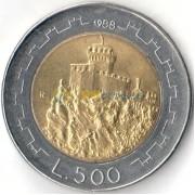 Сан-Марино 1988 500 лир Башня Гуаито