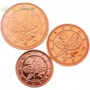 Германия Набор 3 монеты евро 2013-2014 (1-5 центов)