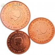 Нидерланды 2011 набор 1, 2 и 5 центов
