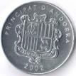 Андорра 2002 1 сантим Агнец Божий
