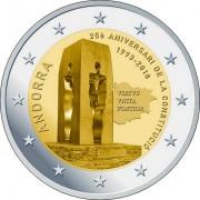 Андорра 2018 2 евро 25 лет конституции