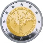 Андорра 2018 2 евро Декларация прав человека