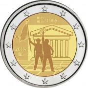 Бельгия 2018 2 евро Студенческие волнения