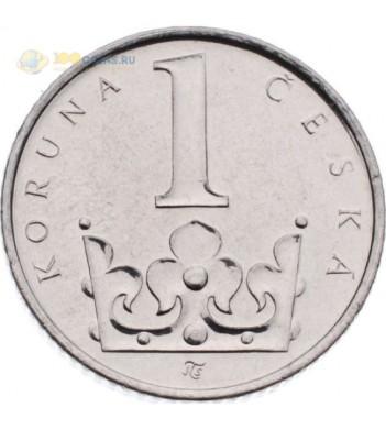 Чехия 2016 1 крона