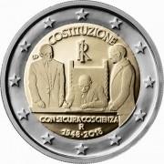 Италия 2018 2 евро 70 лет Республике Италия