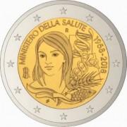 Италия 2018 2 евро 60 лет Министерству здравоохранения