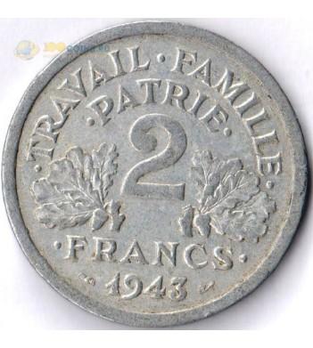 Франция 1943-1944 2 франка