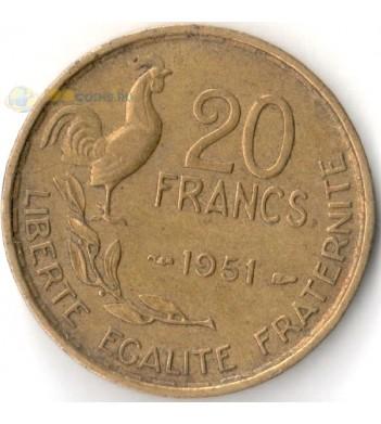 Франция 1950-1954 20 франков (KM# 917)