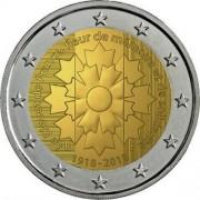 Франция 2018 2 евро Василек
