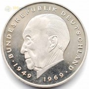 ФРГ 1969-1987 2 марки Конрад Аденауэр