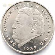 ФРГ 1990-2001 2 марки Франц Йозеф Штраус