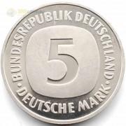 ФРГ 1975-2001 5 марок Герб орел