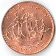 Великобритания 1967 1/2 пенни Золотая лань