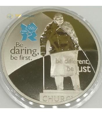 Великобритания 2010 5 фунтов Уинстон Черчилль