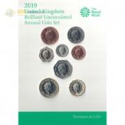 Великобритания 2019 набор 8 монет буклет