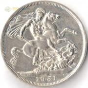 Великобритания 1951 5 шиллингов