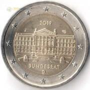 Германия 2019 2 евро Бундесрат J
