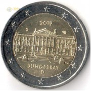 Германия 2019 2 евро Бундесрат G