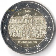 Германия 2020 2 евро Бранденбург