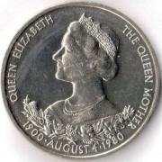 Гернси 1980 25 пенсов 80 лет Королеве матери
