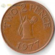 Гернси 1977 2 пенса Мельница