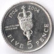 Гибралтар 2004 5 пенсов 300 лет захвату