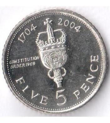 "Гибралтар 2004 5 пенсов ""300 лет захвату Гибралтара"""