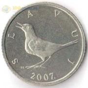 Хорватия 1993-2011 1 куна Западный соловей