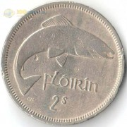 Ирландия 1951-1969 2 шиллинга (флорин) Рыба