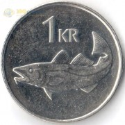 Исландия 1989-2011 1 крона