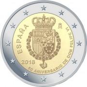 Испания 2018 2 евро Король Филипп VI