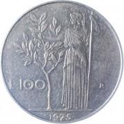 Италия 1975 100 лир Богиня мудрости Минерва