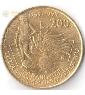 Италия 1999 200 лир Карабинеры