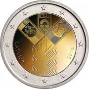 Латвия 2018 2 евро Независимость прибалтийских государств