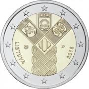 Литва 2018 2 евро Независимость прибалтийских государств